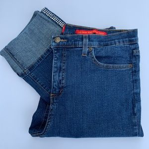 Not Your Daughters Jeans Cuffed & Cropped Size 10